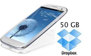 Подарок от Samsung и Dropbox - 50 GB облачного хранилища на два года
