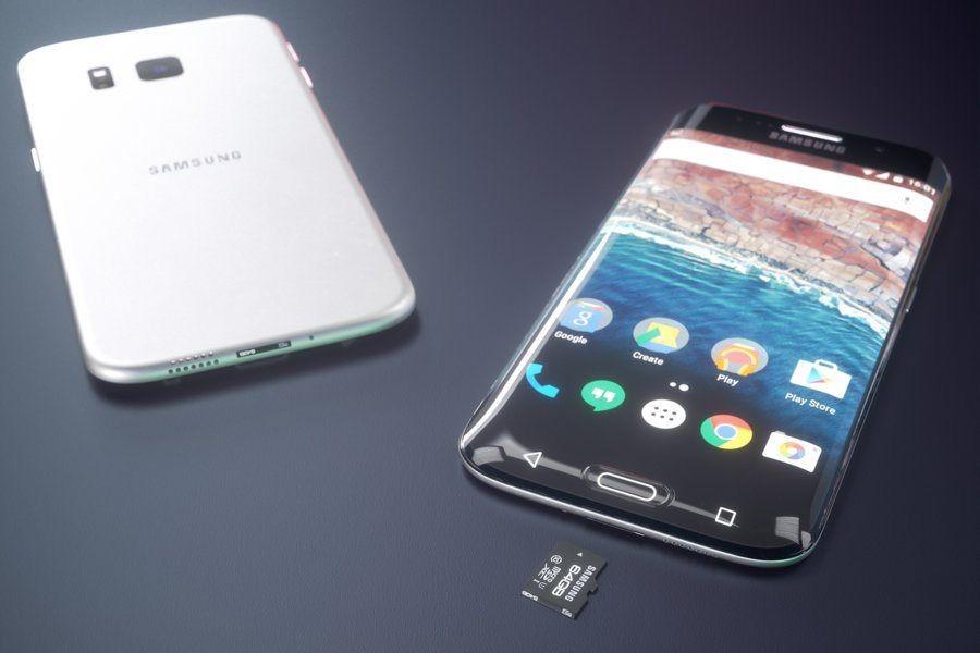 Концепт Galaxy S7 Edge с экраном, закругленным с трех сторон