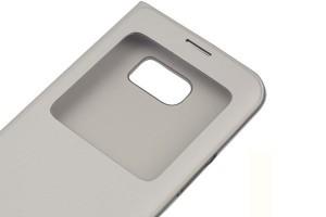 Чехол Samsung S-View Cover Silver (серебристый) для Galaxy S7