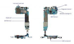 Устройство основной платы Galaxy S7