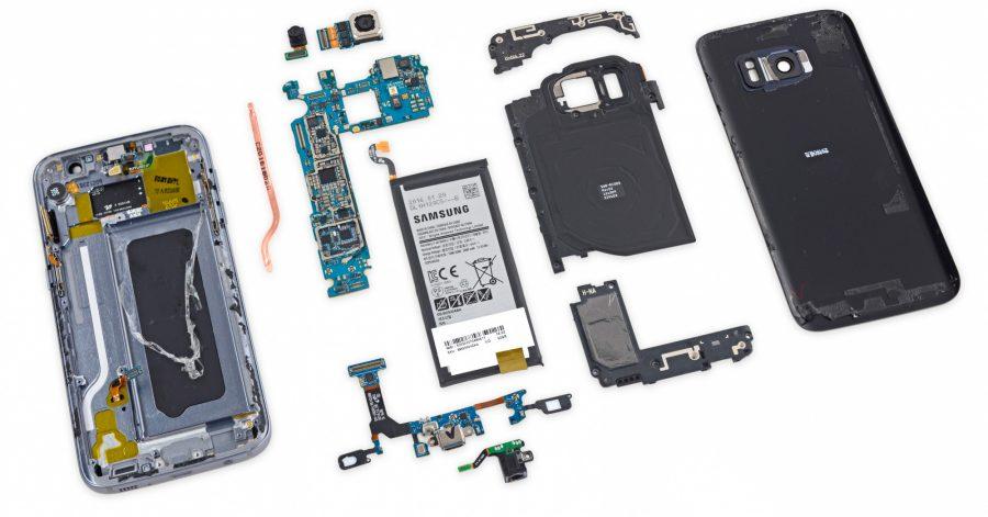 Плата Samsung Galaxy S7 и остальные компоненты смартфона
