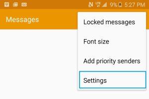 Как включить/отключить на Galaxy S7/S7 Edge отчет о доставке SMS?
