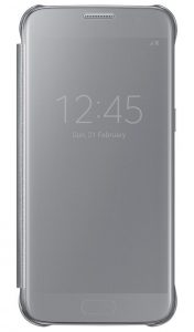 Чехол-книжка Samsung Clear View Cover серебристый