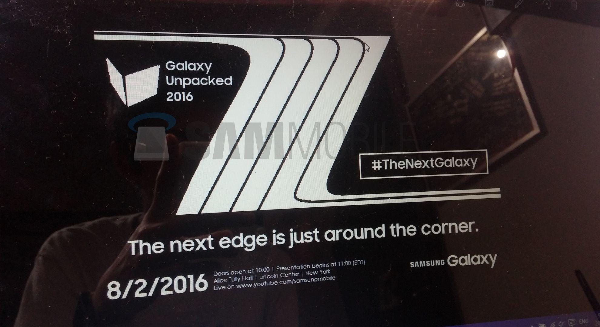Тизер презентации Samsung Galaxy Note 7