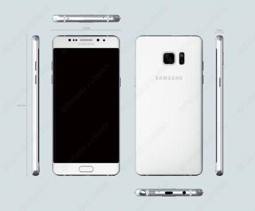 Размеры Samsung Galaxy Note 6 (Galaxy Note 7)
