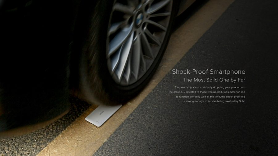 Leagoo M5 - тест на прочность автомобилем