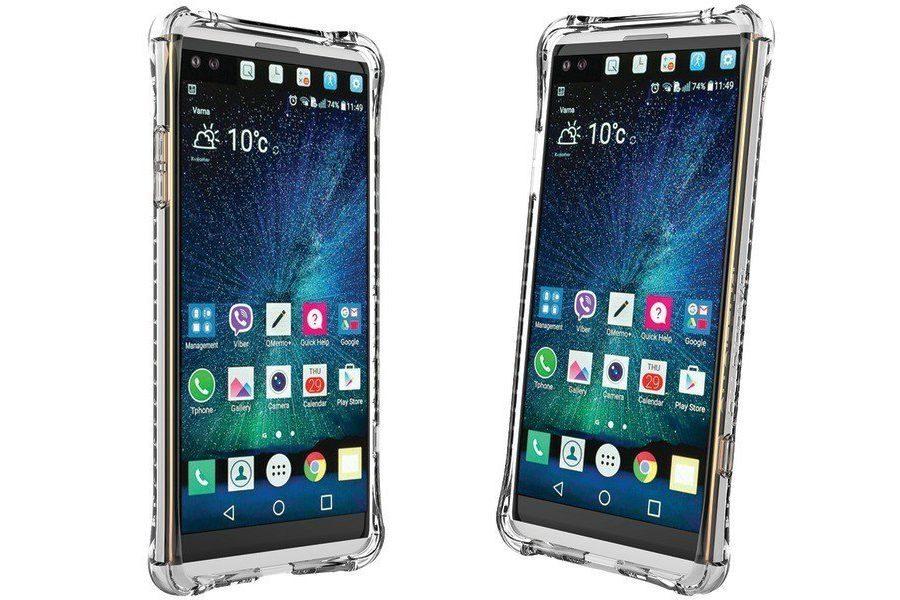 Фото LG V20 в силиконовом чехле