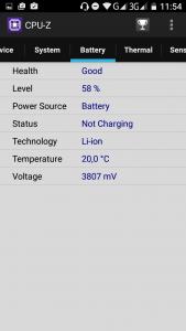 Blackview BV6000 - данные CPU-Z