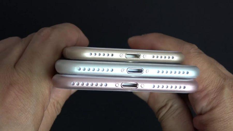 "Та же ""троица"", включая iPhone 7 Plus, вид снизу"