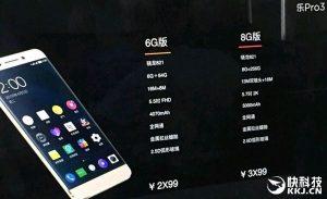 Технические характеристики LeEco Pro 3