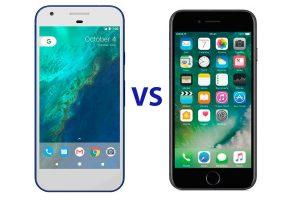 "Сравнение Google Pixel vs Apple iPhone 7: ""пиксели"" против ""яблок"""