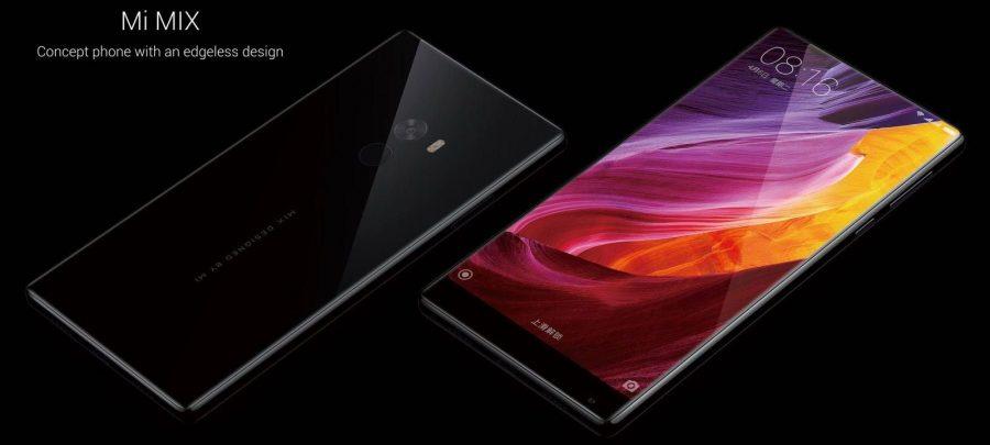 Фото Xiaomi Mi Mix - фронтальная и тыльная поверхности
