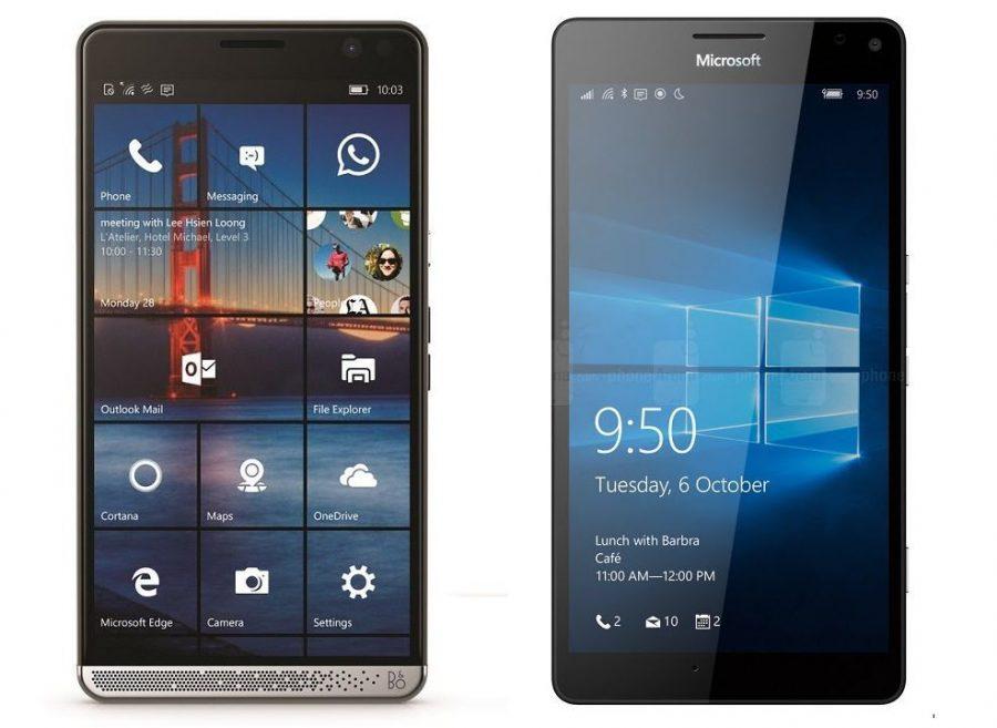 HP Elite x3 и Microsoft Lumia 950 XL