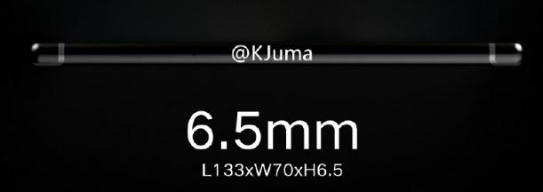 Сам корпус устройства будет очень тонким - 6,5 мм.