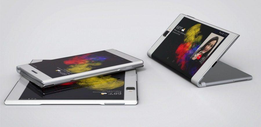 Складной смартфон-планшет Lenovo в действии
