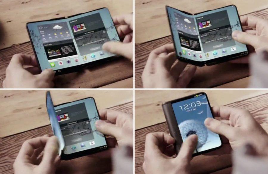 Тот самый нашумевший концепт складного смартфона от Samsung