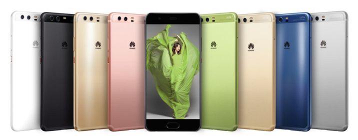 Вся цветовая палитра Huawei P10