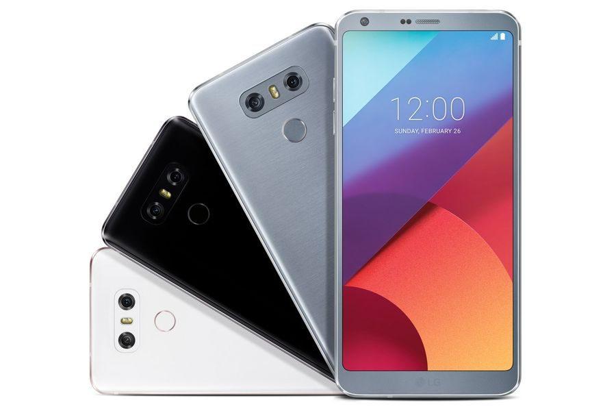 Цвета LG G6 - три варианта на выбор: белый, черный и серебристый