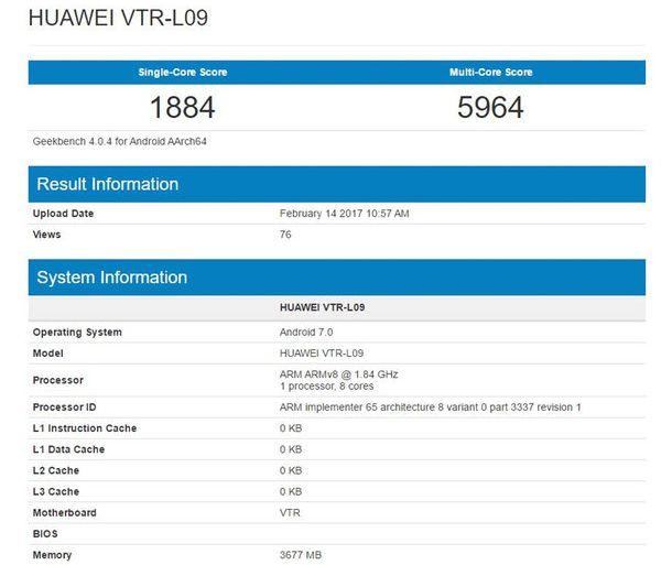Производительность Huawei P10