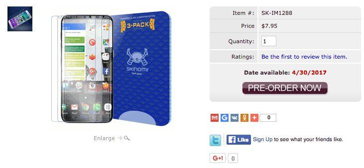 закаленное защитное стекло для Galaxy S8 Plus от компании Skinomi