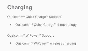 Выдержка из списка параметров Qualcomm Snapragon 835