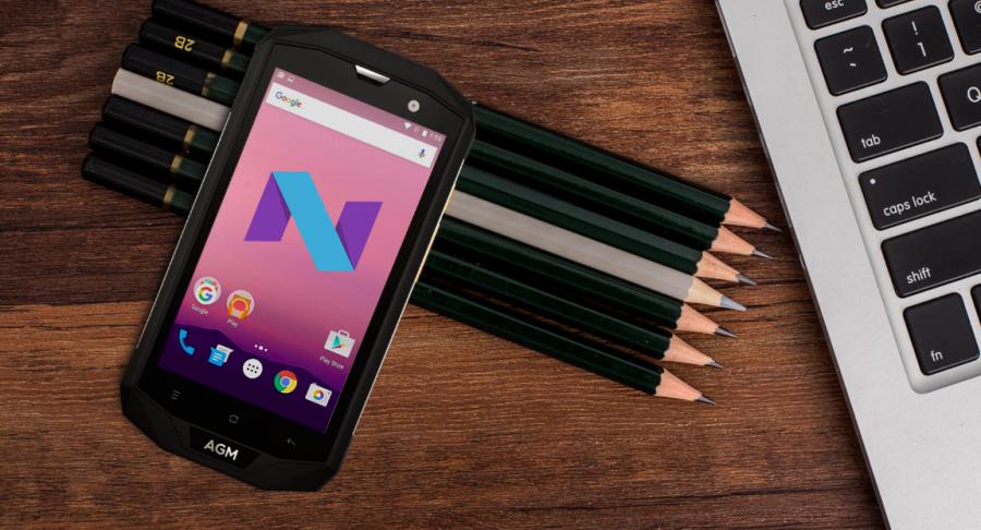 """Работает AGM A8 под управлением """"чистой"""" Android 7 Nougat"""