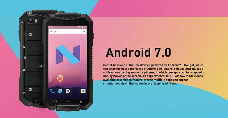 Geotel A1 является одним из самых недорогих смартфонов под управлением Android 7 Nougat