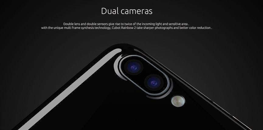 Основная камера Cubot Rainbow 2 состоит из пары сенсоров 8 Mp + 2 Mp