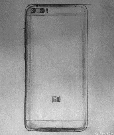 Тот самый эскиз Xiaomi Mi6