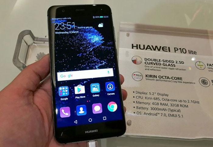 Странное фото Huawei P10 Lite. Почему-то указан процессор HiSilicon Kirin 685