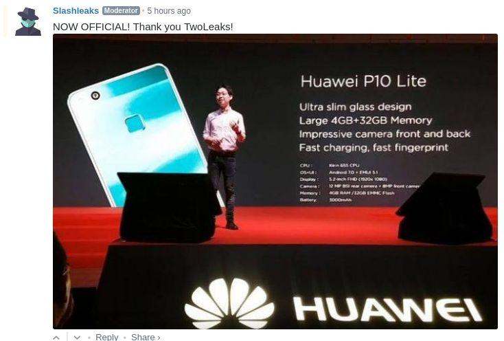 Презентация Huawei P10 Lite