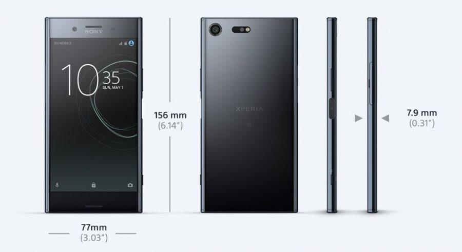 Размеры Sony Xperia XZ Premium