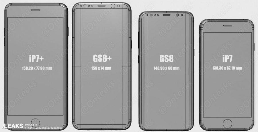 Сравнение Galaxy S8 с iPhone 7