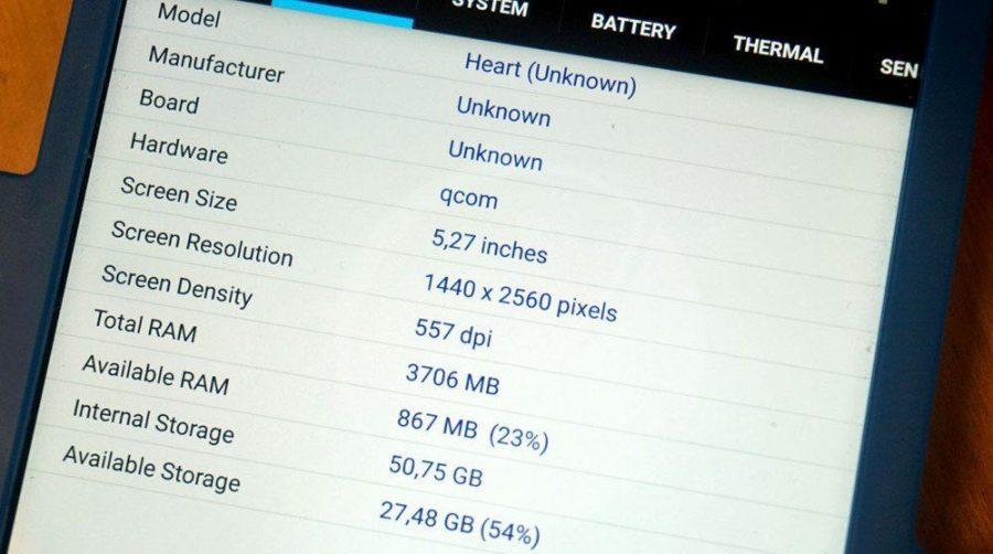 Технические характеристики Nokia 9 по данным утилиты CPU-Z