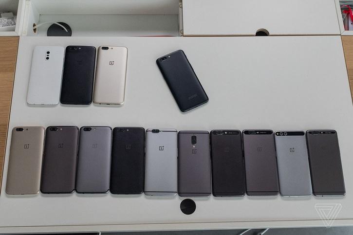 Прототипы OnePlus 5 на одном фото