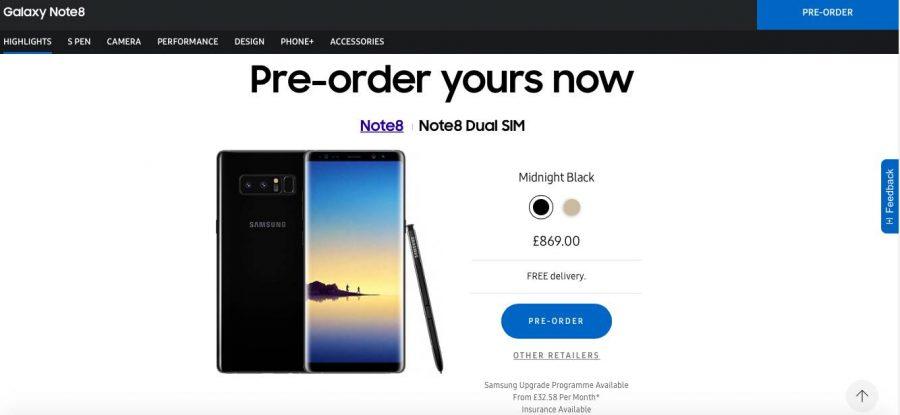 А столько стоит новый флагман Samsung на британском рынке