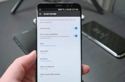 Сделайте так, чтобы Samsung Galaxy S8 не беспокоил вас