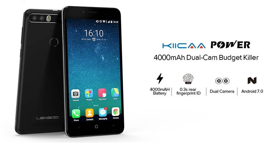Ключевые фишки Leagoo KIICAA Power одним слайдом