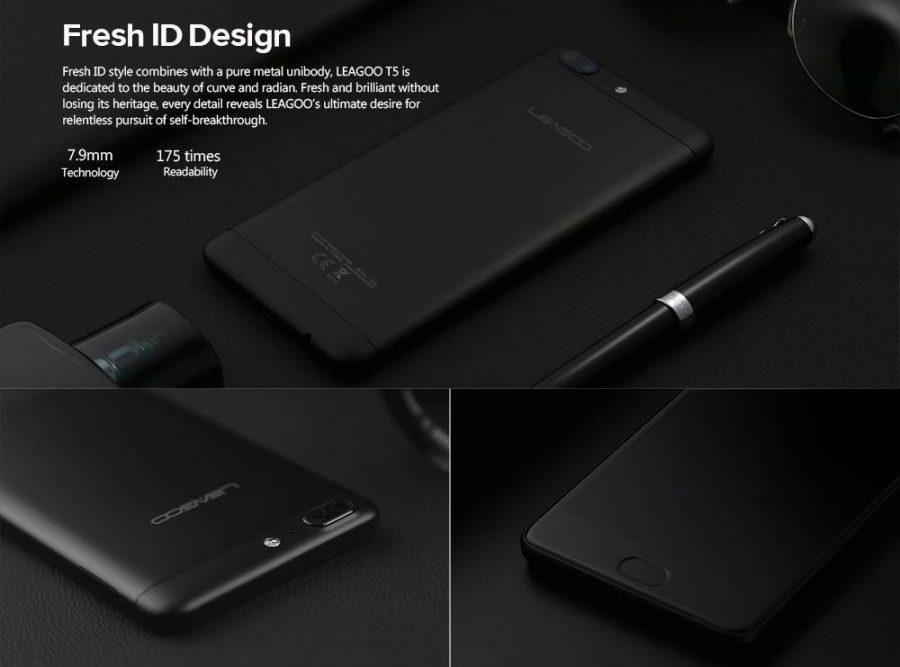 Дизайн Leagoo T5