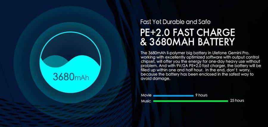 Аккумулятор и зарядка Ulefone Gemini Pro