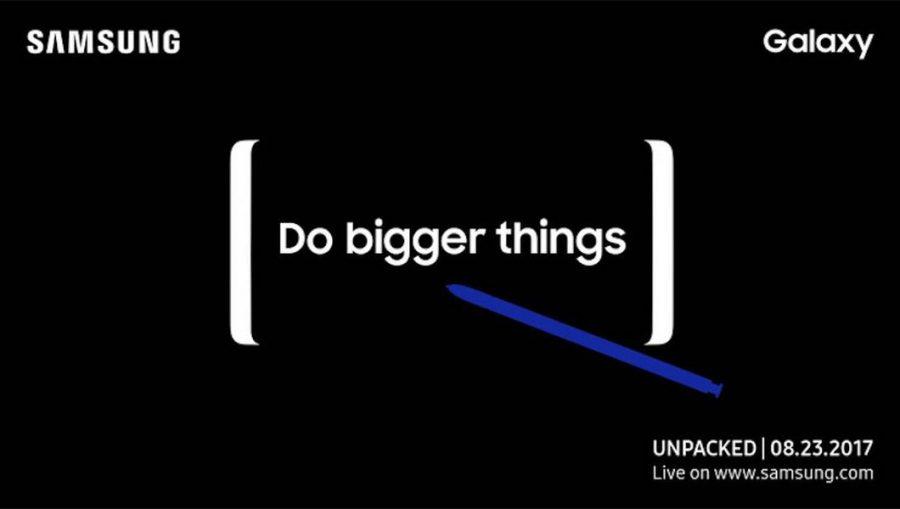 Дата выхода Samsung Galaxy Note 8 на официальном тизере презентации смартфона