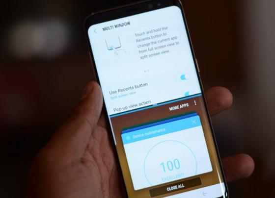 Как активировать многоконный режим на Samsung Galaxy S8