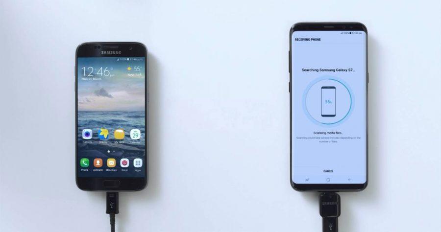 Перенос данных на Samsung Galaxy S8 с помощью Smart Switch
