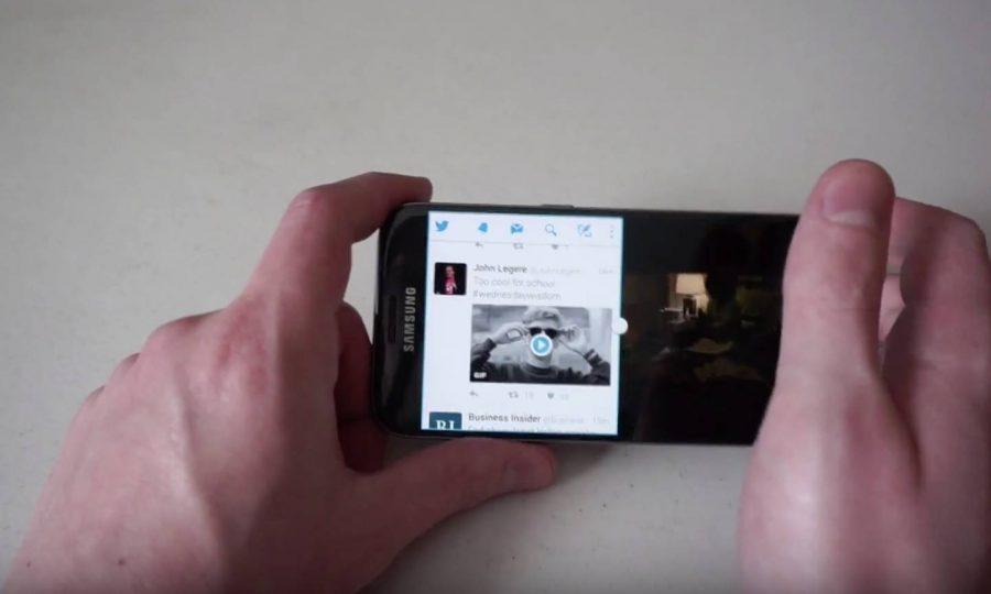 Активация режима Split Screen на Samsung Galaxy S8