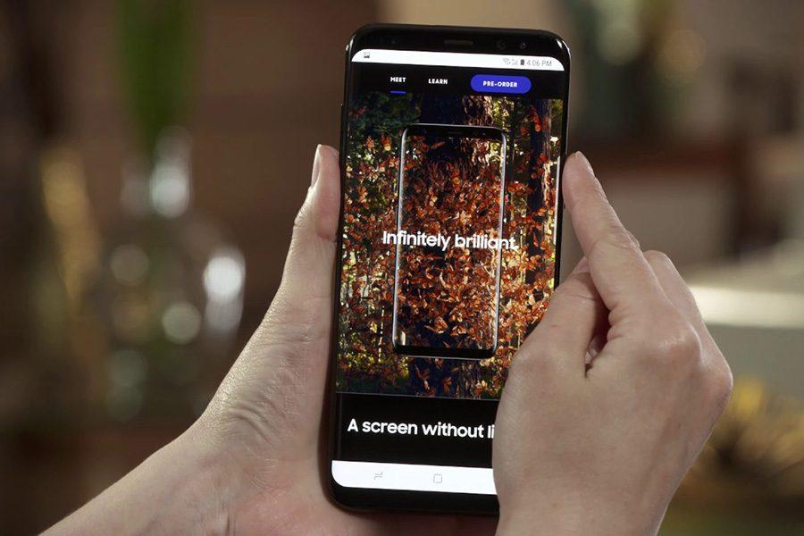 Классический способ получить скриншот экрана на Galaxy S8, работающий почти на всех Android-смартфонах