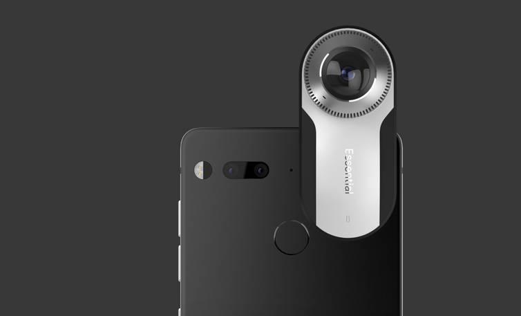 Смартфон с подключенной внешней камерой