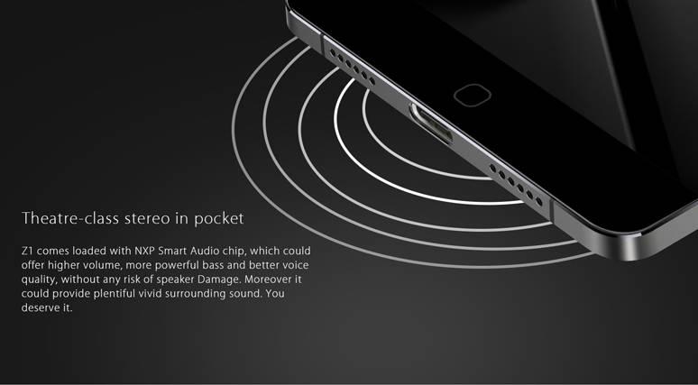 Стереодинамики - одна из ключевых фишек Elephone Z1