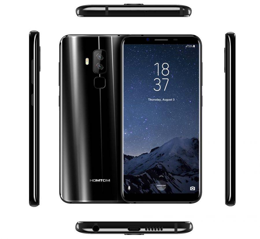 Черный вариант HomTom S8 со всех ракурсов