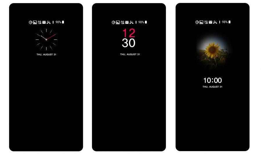 Варианты настройки активного экрана LG UX 6.0+