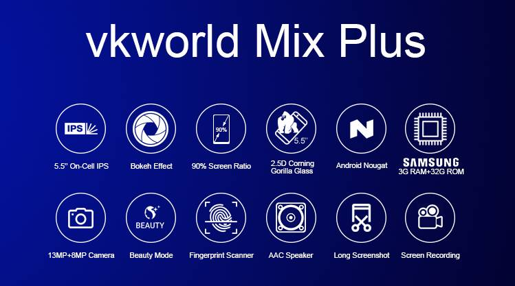 Ключевые фишки Vkworld Mix Plus одним слайдом